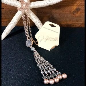 """28"""" Rose Gold/Gray style Pendant Necklace"""